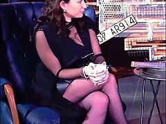 Cum For Nylons of Turkish Milf Presenter