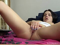 CZECH AMATEURS - BUSTY BRUNETTE HUNGRY FOR A COCK