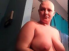 shaving my head slick