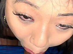 Asian Babe Gives Sloppy  POV Blowjob To Step Brother While Mother Is Gone. (Cash&amp_Layla)