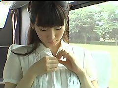 Big pale ass of Japanese hoochie Momo Yoshida is hypnorizing
