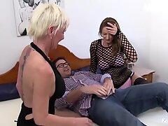 ReifeSwinger - Horny German Mature Amateurs Naughty FFM Threeway Sex Session - AMATEUREURO