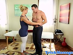 Busty masseuse slammed by her client