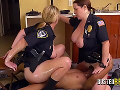 Young dude gets his BBC deep sucked before a round of facesitting and hard riding by these milfs