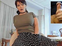 Milf on omegle making boys cum