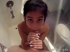 dirty shower deep throat POV with Jade Kush