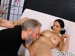 Old nasty dude fucks juvenile hole