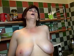 OldNanny Granny with hot Mature and her boyfriend