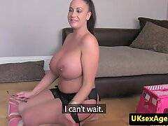 Hot BBW MILF with massive boobs gets facialized