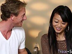 Fooled asian jizz masseur
