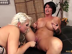 Pussy Crazy MILF Lesbians Go Wild with the Toys and Fingers