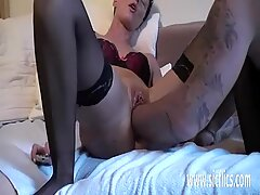 Extreme double fist fucked mature amateur wife