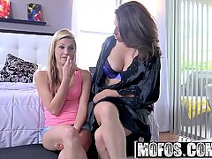 Mofos - squirted babysitters - milf and Spinner Threesome star